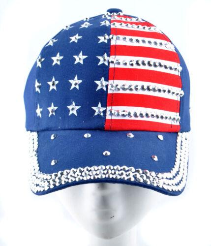 New Womens Rhinestone Stud Baseball Cap Men/'s Bling Adjustable Tennis Hats