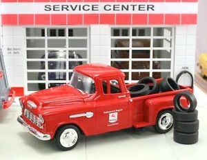 "New in Box  1/43 1955 Chevrolet Stepside  Pick-up Truck ""Mobil"" with 10 Tires"