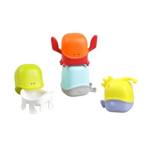 Boon Baby Bathing Toys Creatures Multicolor Encourages Hand Eye Coordination
