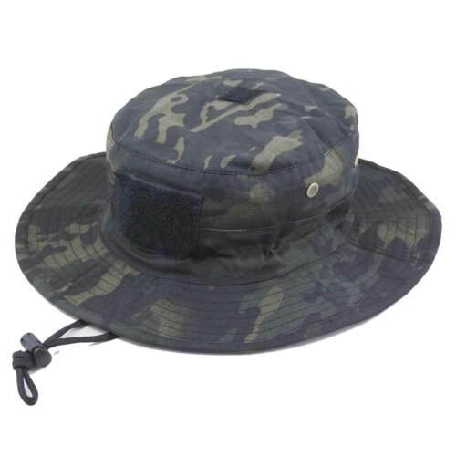 Bulldog militaire tactique armée airsoft randonnée Seau CACHOU Chapeau MTC Noir Camo