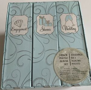 Shower /& Wedding Albums Sheffield Home Engagement Three-piece Photo Album Set