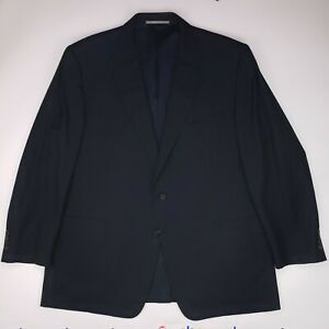Hickey-Freeman-50L-Navy-Suit-Jacket-Loro-Piana-Tasmanian-Wool-2-Button-Size-Mens