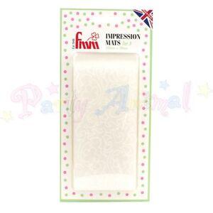 FMM-Texture-Impression-mats-VINTAGE-LACE-Pack-of-2-Icing-Embosser-Sugarcraft