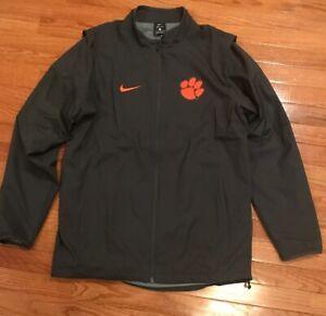60cdac1bd773 Nike Clemson Tigers Men s Black Full-Zip Jacket 814825-060 NWOT ...