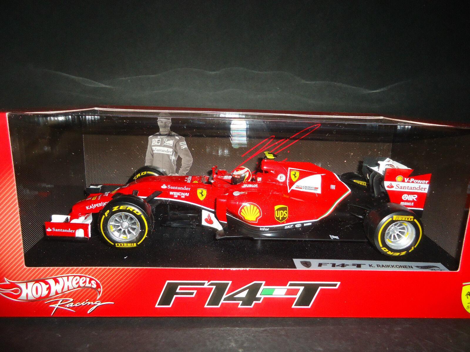Hot Wheels Ferrari F1 F14 T 2014 Kimi Raikkonen BLY68 1 18