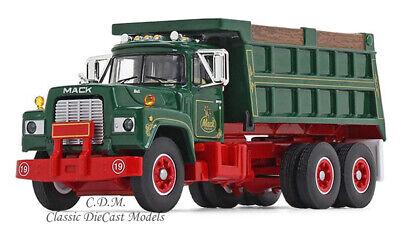 "Mack R-Model Tandem Axle Green Dump Truck /""MACK/"" 1//64 Diecast First Gear 60-0544"