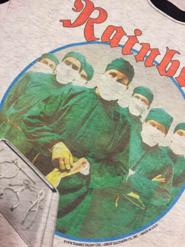 Difficult to Cure Vintage 1981 Tour T-SHIRT FREE SHIP USA Street of Dreams