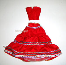 Barbie Size Outfit Red Top/Dress For Model Muse Barbie Dolls hf11