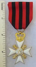 ORIGINAL Vintage BELGIAN  CIVIL MERIT 25 Year LONG SERVICE CROSS MEDAL BELGIUM