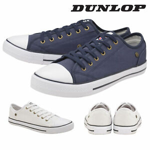 Dunlop-Mens-Lace-Up-Trainers-Canvas-Plimsoll-Pumps-Shoes-Memory-Foam-Sizes-6-12