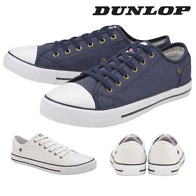 Dunlop Da Uomo Con Lacci Scarpe Da Ginnastica In Tela Da Ginnastica Pompe Scarpe Foam Tg 6-12 Memory-mostra Il Titolo Originale