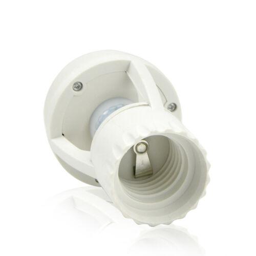 E27 to E27 PIR Induction Motion Sensor Socket Switch Light Bulb Holder 110V 220V