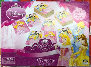 Disney-Princess-Memory-Card-Game-Brand-New-2004-Crown-Andrews-3-2-4-Players