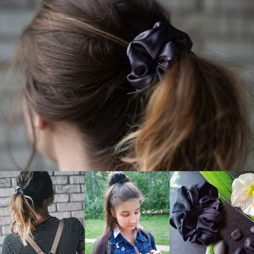 Free Ship Silk Hair Scrunchies Ponytail Holder Elastic Ties Hair Band Hair Ties