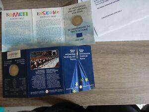 2-Euro-Gedenkmunze-BELGIEN-2007-Coincard-50-Jahre-Roemische-Vertraege