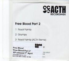 (EU368) Free Blood Part 2, Royal Family / Grumpy - DJ CD