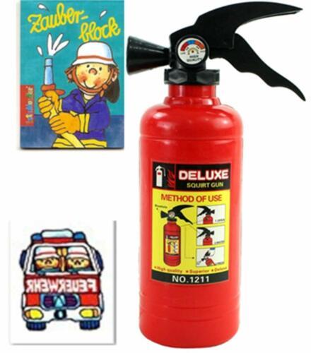 Feuerwehr Wasserspritzen Set 1 X Wasserspritze 1 X Zauberblock 1 X Tattoo