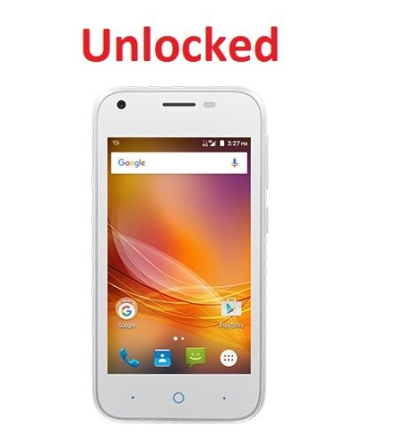 1 of 1 - ZTE Shout Blade A110 White 4G Quad Core Android 5.1 UNLOCKED same as ZTE ZIP