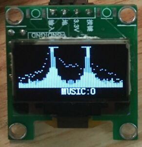 "0.96/"" IPS Music Spectrum Display Analyzer Audio Level Indicator rhythm VU METER"