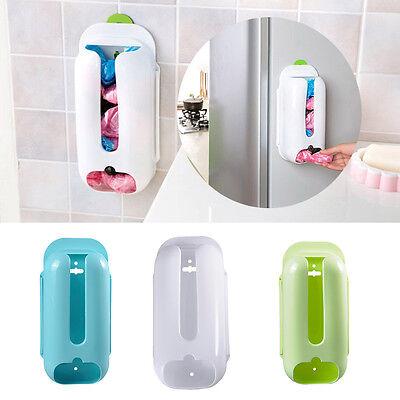 Wall Mount Plastic Bag Dispenser Cabinet Drawer Kitchen