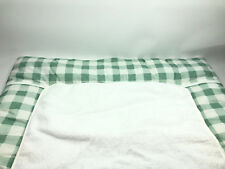 Schardt Wickelauflage aus Baumwolle Design Vichy Mint mit Frotteebezug NEU