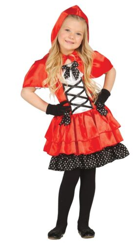 Girls Little Red Riding Hood Fairy Tale Book Day Fancy Dress Costume Outfit 3-12