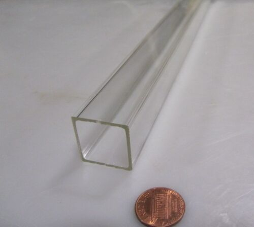 """Acrylic Square Tube Clear Extruded 1.0/"""" SQ x .063/"""" Wall x 72/"""" Length -048"""
