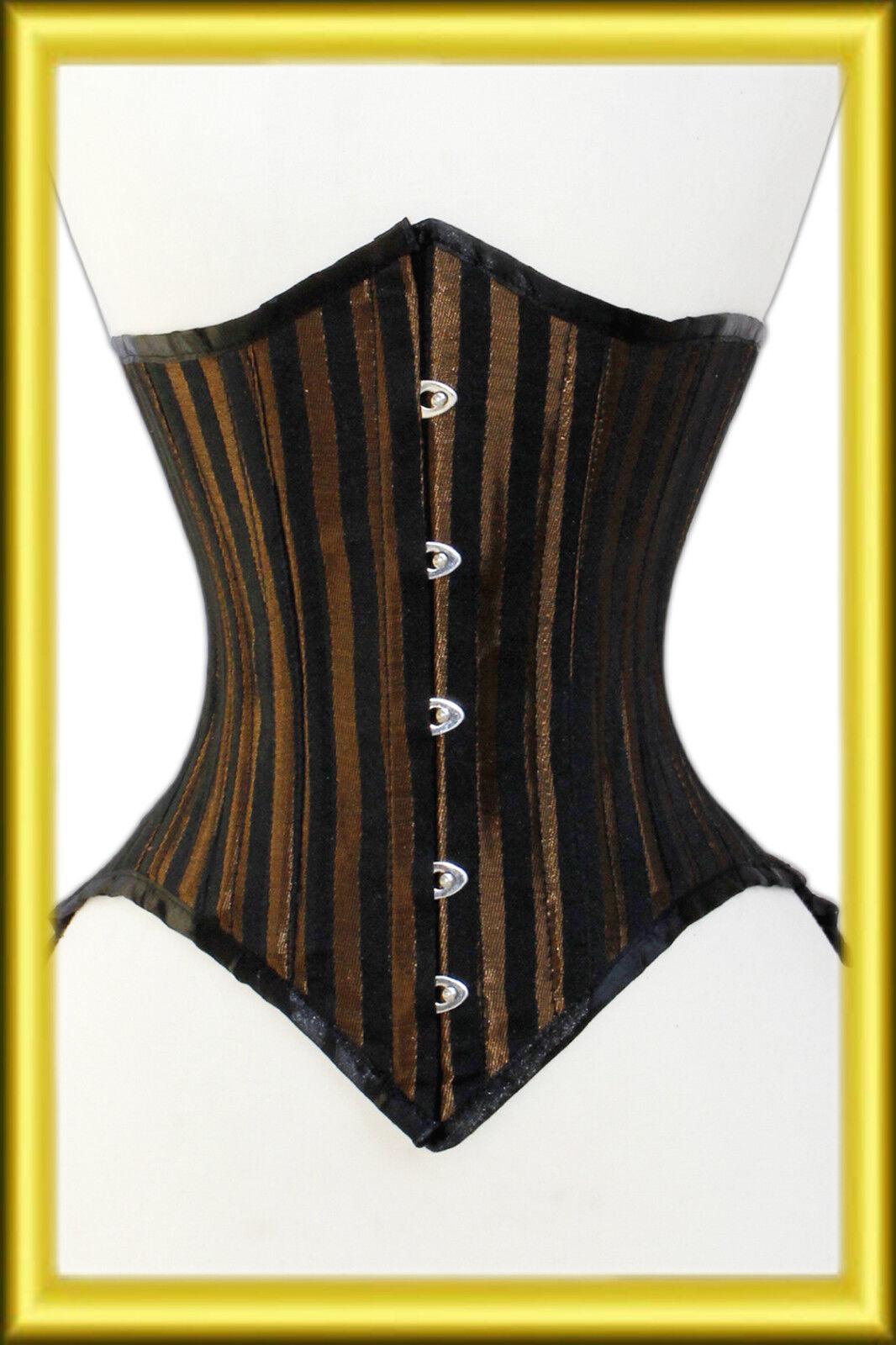 Bustino corsetto seno Broccato black  brown tg. 34,36,38,40, fino alla 56