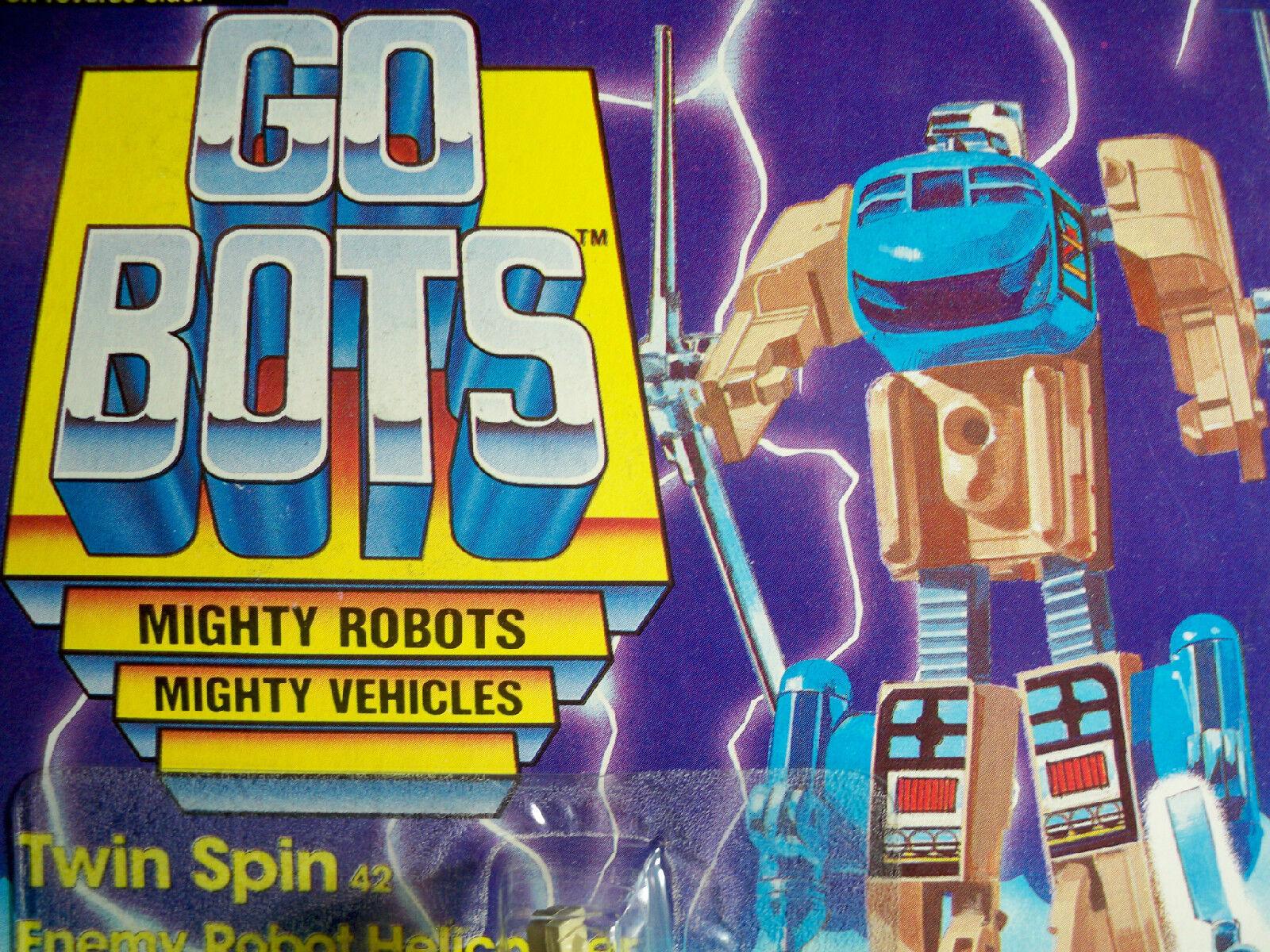 D0500082 Twin Spin Gobots Moc menta en tarjeta Tonka 1985