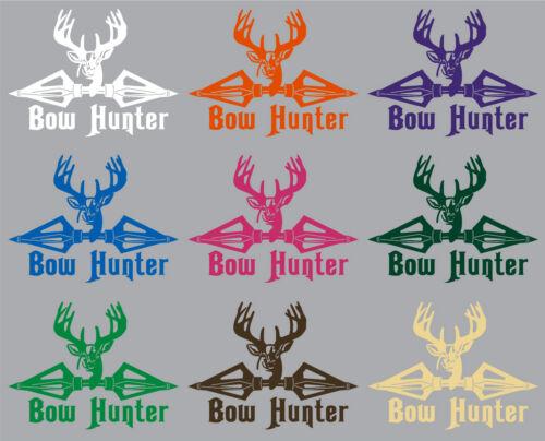 Bow Hunter Hunting Deer Broadheads Arrow Car Truck Window Vinyl Decal Sticker