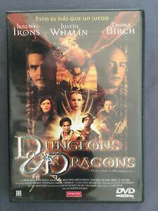 DVD-DUNGEONS-DRAGONS-DRAGONES-Y-MAZMORRAS-Jeremy-Irons-Justin-Whalin-Tora-Birch
