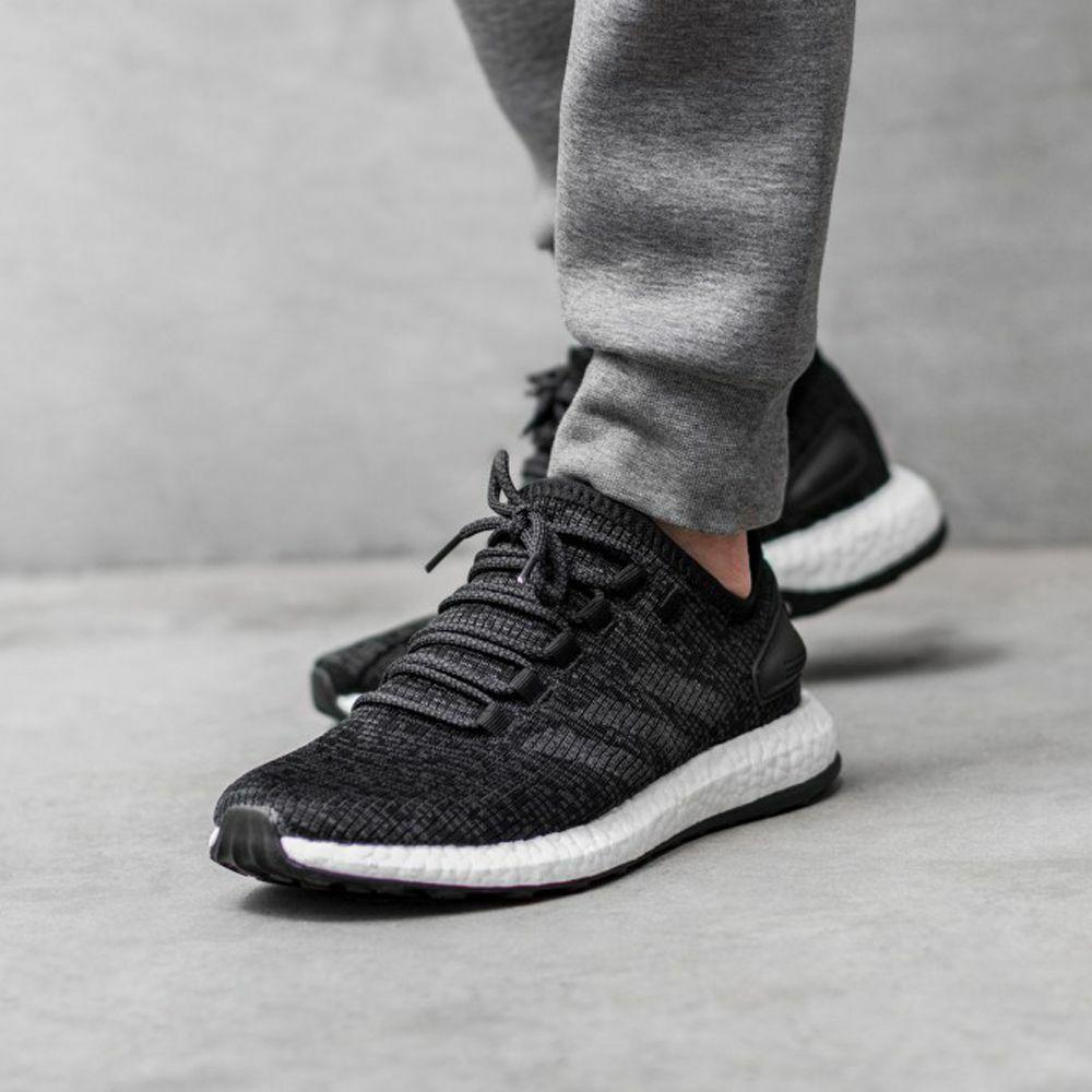Zapatillas Adidas Pureboost Core BA8899 Negro Sz 12.5 Nuevas Con Caja