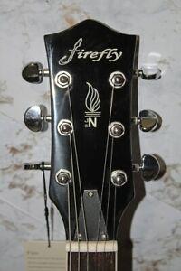 Firefly Semi Hollow Body Electric Guitar - FF338 Black