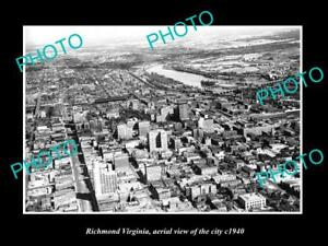OLD-LARGE-HISTORIC-PHOTO-OF-RICHMOND-VIRGINIA-AERIAL-VIEW-OF-THE-CITY-c1940-3