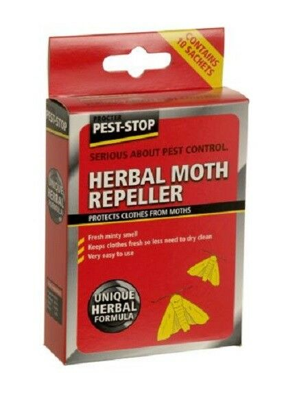 Pest-Stop Herbal Clothes Moth Repeller Fresh Minty Smell - 10 sachets