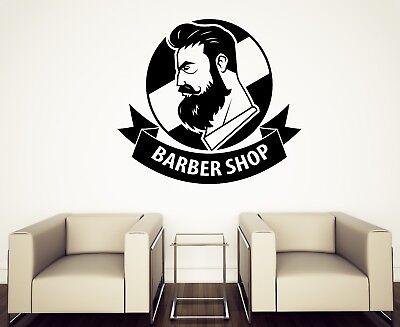 Vinyl Wall Decal Hair Style Boy Barber Shop Men/'s Haircut Stickers Mural g340