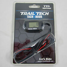 Trail Tech TTO Tach Hour Front Button Digital Gauge Black All Gas Engine 742-A00