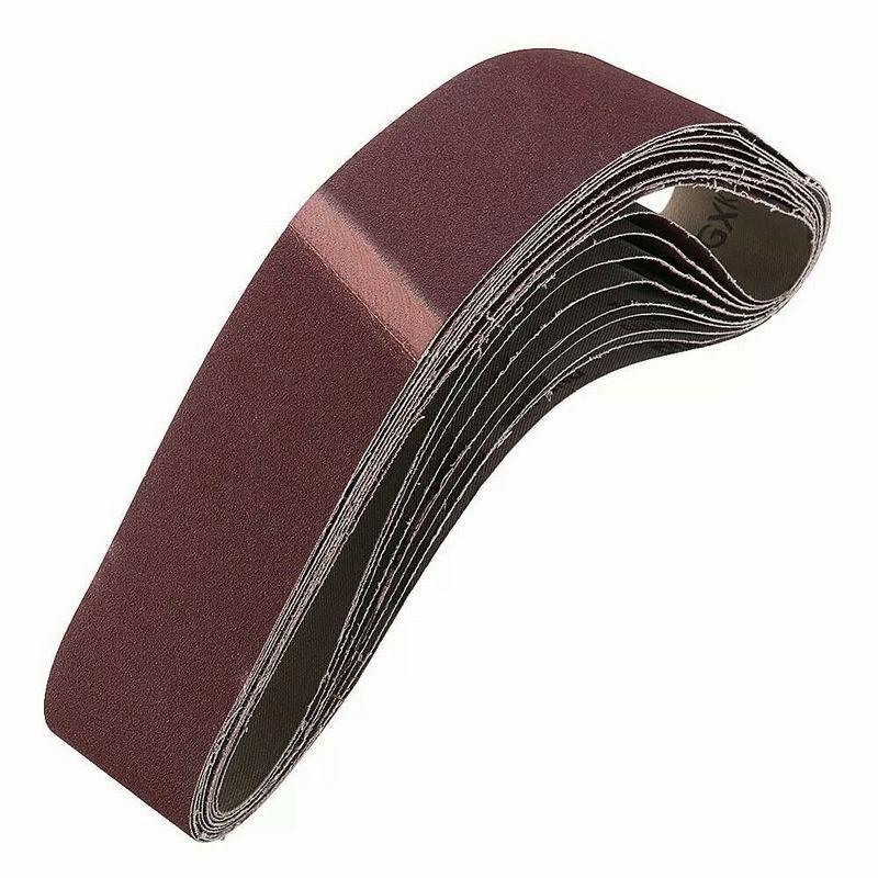10er Pack Schleifband 560 mm x 100 mm K/örnung 40 Schleifpapier Gewebeschleifband