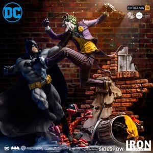 Iron-Studios-Batman-vs-Joker-echelle-1-6-DC-Comics-Ivan-Reis-Diorama-Sideshow-nouveau
