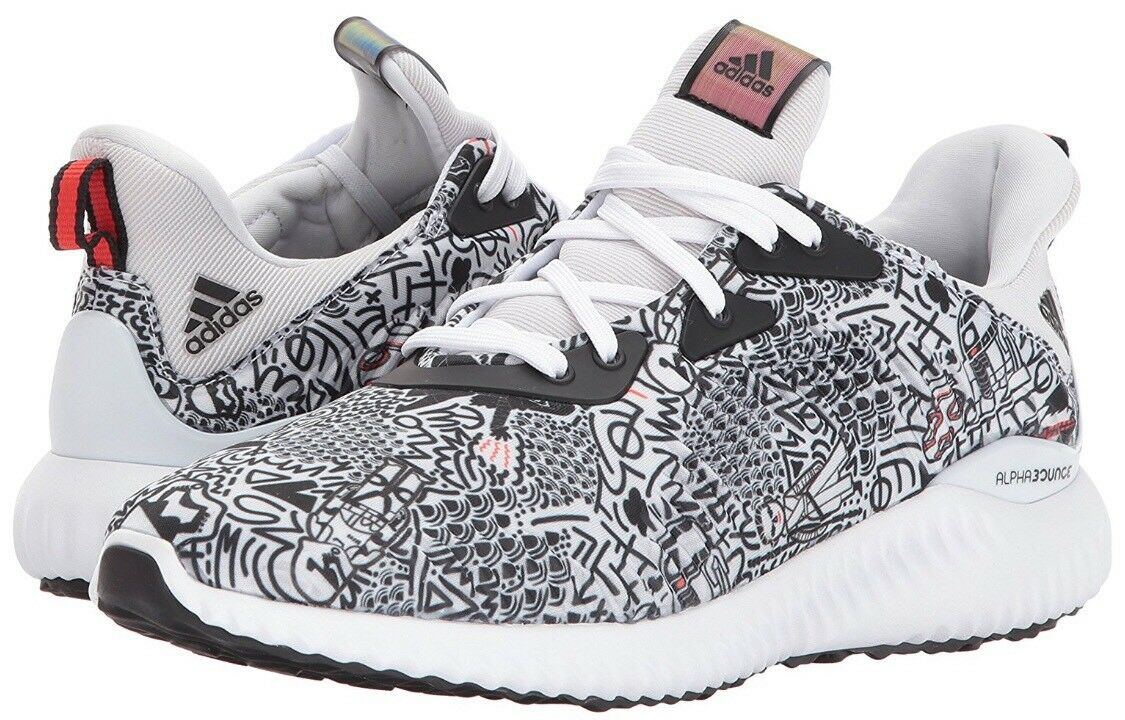 Adidas Alphabounce Starwars Running Shoes White BW1118 Youth 6 New