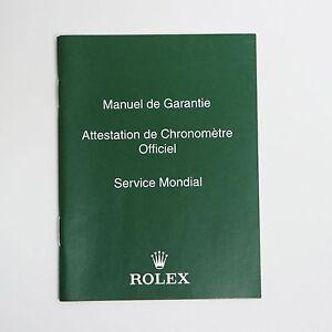 ROLEX-MANUEL-DE-GARANTIE-ROLEX-SERVICE-MONDIAL-OPUSCOLO-LIBRETTO-VERDE-SCURO