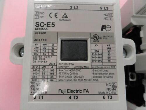 Fuji Electric FA SC-E5 SE105AA Magnetic Contactor