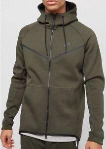 half price classic style los angeles Détails sur Nike Tech fleece Coursevent Full-Zip Sweat à capuche 805144-355  Sequoia taille XL RRP £ 90- afficher le titre d'origine