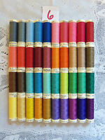 40 different colors GUTERMANN 100% polyester thread 110 yards each Spool (#6)
