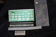 Vintage Computer Flowcharting Template/Osborne Ruler
