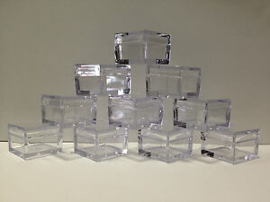 CLEAR-SQUARE-JARS-CONTAINERS-FOR-EYESHADOWS-GLITTER-SHIMMER-DIAMANTES-10-PACK