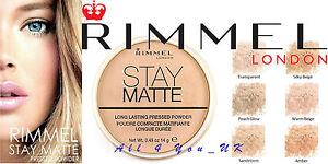 Rimmel-London-Stay-Mate-Duradero-polvo-presionado-14-0g-por-favor-elija-Tono