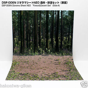 [HAKONIWAGIKEN DSF-006N] Diorama Sheet NEO Forest/Desert backwall&base set