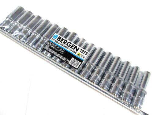 "24 mm 1279 Bergen 15pc 1//2/"" Dr profundo métrica 6 lados de un solo carril de sockets Hex 10 Mm"