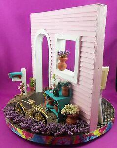 Dollhouse-Miniature-1-12-Scale-Artist-Spinner-Roombox-Scene